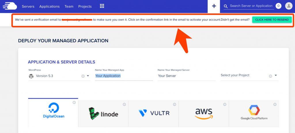注册Cloudways服务器的步骤
